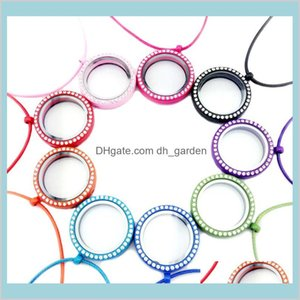 Crystal Floating Necklace Round Glass Frames Circle Charm Necklaces Fashion Jewelry Will And Sandy Drop Ship A8E6F Lockets F5Iag