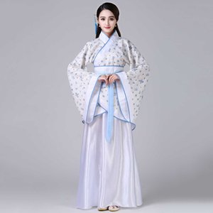 Women Traditional Ethnic Costume Princess Hanfu Han Dynasty Womens Outfits White Black Red Pink Chinese Ancient
