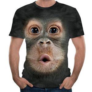 print sleeve Men's short 3D T-shirt gorilla