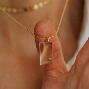 Customized Zodiac Month Geometric Jewelry Engraved Symbols Word Quot Msage Inspired Rectangle Pendant Necklace
