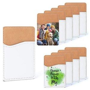 Kreative Sublimation leeres Leder Mobiltelefon Aufkleber Favorzen Wärmeübertragung DIY Kartenhalter ID Lagerung 9.7 * 6,6 cm