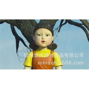 Squid game mask Li Zhengzai same mask 123 wooden man game puppet doll head XYM