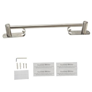 Towel Racks Durable Stainless Steel Adjustable Length For Bathroom Home Kitchen Self Adhesive Bar El Wall Mounted Easy Install