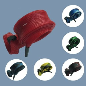 Fishing Rod Cover Braided Mesh Tackle Boxes Fishing Accessories Casting Spinning Fishing Pole Sleeve Protector 611 Z2