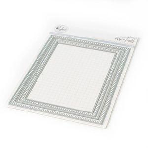 Painting Supplies 2021 Metal Cutting Dies Slanted Rectangle Frame Cut Scrapbooking Paper Craft Handmade Card Punch Art Cutter Decorative