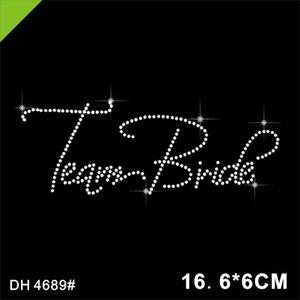 Team Bride crystal Hotfix rhinestone transfer motif design for tshirts 4689