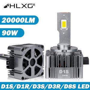 Car Headlights 2Pcs D3S LED D1S D5S D8S Canbus Bulb Lamp Auto Headlight Luces 90W 20000LM Kit To Replace HID Lights Turbo Para