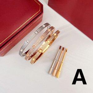 Designer Bracelets Narrow Wedding Bracelet Lover Fashion for Man Woman 3 Style 9 Color Top Quality