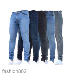 Mens Jeans Designer Luxury Autumn Fashion Design Stretch Fabric pencil Pants Recycled Water Simple Generous Casual Business Leisure Style fashion802