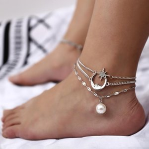 Designer Barefoot Sandals For Wedding Shoes Sandel Anklet Chain Stars and Moon Beach Wedding Jewelry Footwear