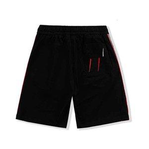 21SS 망 반바지 새로운 패션 하이 스트리트 요소 남성 반바지 바지 편지 인쇄 짧은 무릎 길이 캐주얼 스타일 크기 : M-2XL