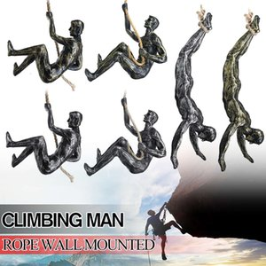 Handgemachtes Global Climbing Man's Eiserne Vorhang Wandkleidung Dekoration Skulptur Figuren Kreative Retro Heute Statue Dekor