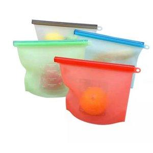 500 / 1000 / 1500 / 4000ml 실리콘 신선한 보관 가방 진공 봉인 식품 저장 가방 신선도 보호 패키지 식품 등급 패킷 가방 VTKY2282