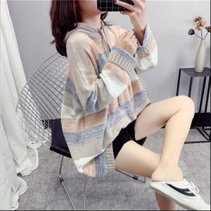 Women Womens sweater Knitwear jacket autumn loose Korean version of the long paragraph pullover blouse