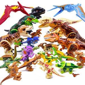 Jurassic 2 Building Blocks World Dinosaurs Figur Bricks Assemble Kids Toys Tyrannosaurus Rex Indominus I-OMBE