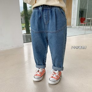 Children's Jeans Pants 2021 Spring Summer Korean Loose Casual for Boys and Girls