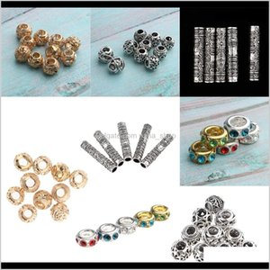 Sprays 30Pcs 4 Kinds Of Dreadlocks Beads Tubes For Braiding, Beard, Hair Bwty6 W53Wr