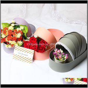 Wrap Creative Cradle Personality Flower Packaging Box Bouquet Rose Gift Paper Basket Empty Floral Dmg5L Fuk3C