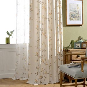Curtain & Drapes Printed Cartoon Curtains For Living Dining Room Bedroom Childlike Cute Children's Bird Rattan