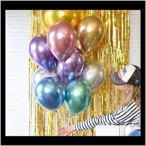 Other Event Supplies 50Pcs Bag 12Inch Metal Pearl Latex Thick Metallic Inflatable Air Wedding Birthday Balloons Baby Shower Party Uqqu Odihw