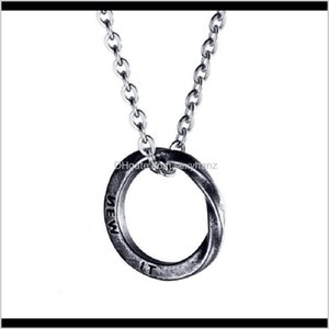 Necklaces & Pendants Drop Delivery 2021 Fashion Hip Hop Bling Chain Jewelry Sier Circle Pendant Design Stainless Steel Link Chains Necklace G