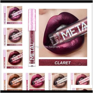 Lips Health & Drop Delivery 2021 Metallic Gloss Pearly Non-Stick Cup Long Lasting Lip Glaze Beauty Matte Makeup Lipstick Vkbmc