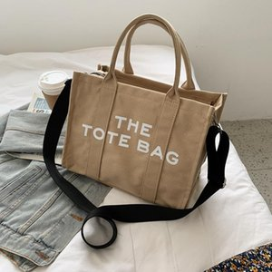 Cross Body 2021 Simple And Fashionable Diagonal Literary Fan Letter Printing Large-Capacity Canvas One-Shoulder Women Shopping Bag