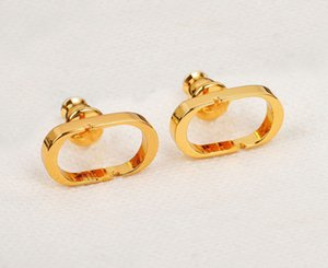 Fashion gold Earring stud earrings for lady Women Party Wedding Lovers gift Charm Jewelry With BOX lz530