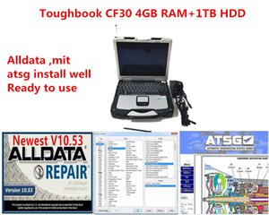 2021 New Alldata Soft-ware Mit and ATSG 3 in1TB Hdd Installed Well in cf30 4GB Laptop Ready to Use