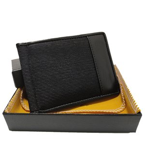 Fashionable Cash Clip For Man Short 8 Slots High-quality Leather Wallet Mens Card Holder Fabric German Folding Craftsmanship With Box Set