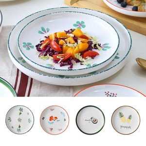 Dishes & Plates 1PC Kitchen Ceramic Plate Seasoning Salad Main Course Bowl Toast Sushi Tray Display Stand Storage Tableware