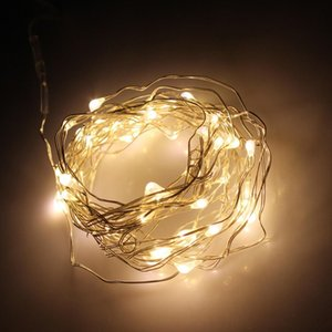 LED Battery Operated Copper Wire LED Strings Fairy Lighting for Christmas Party Wedding Decoration