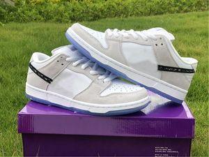 2021 الاحذية الفاخرة اسم المشترك مكتنزة دانكي رمادي أبيض أسود الرجال النساء المدرب الرياضة الرياضية أحذية مع صندوق BQ6817 002