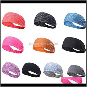 Bands Womens Sports Headband Women Men Cotton Knotted Turban Head Warp Hair Band Wide Elastic Yoga Sport Headband1 Gstnd 84Ydm