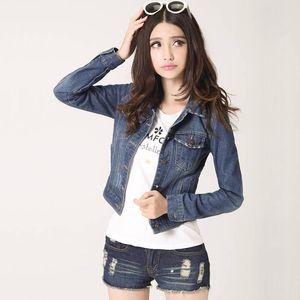 Womens Jackets Coats Spring Fashion Jeans Denim Women Slim Cotton Solid Jacket For Outerwear Lady Female Women's