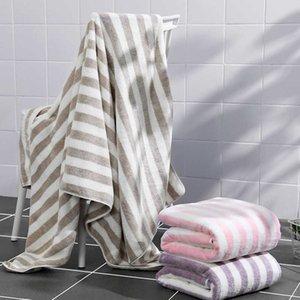 70x140cm Home Textile Towel Coral Velvet Bath Towels For Adult Soft Absorbent Microfiber Fabric Towel Wearable Bath Towel 210724