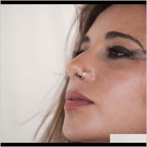 Rings Studs Drop Delivery 2021 Creative Human Body Piercing Jewelry Ring Nose Nail Hand Made Earrings For Women Trhkl