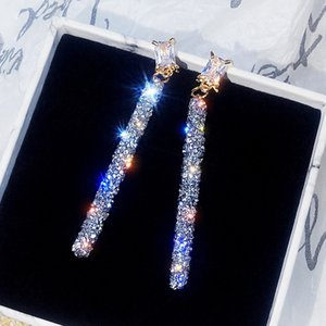 Purchase List 925 Sier Needle High Personality Net Long Temperament Orrbel Crystal From Swarovski's Bruiloft Jewelry Poison