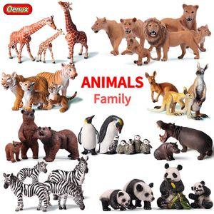 Original African Wild Lion Simulation Tiger Elephants Action Figure Farm Animal Figurines Model Educational Toys Miniatures Dollhouse