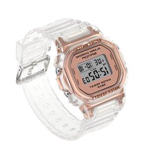Girl Fashion Transparent Women's Waterproof Watches Electronic Digital Gift Clock Lady Sport Watch For Woman Children Wristwatch 21ss