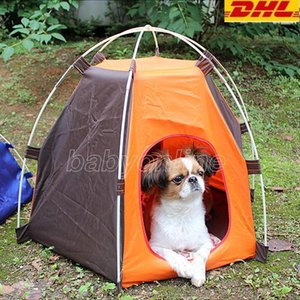 Dog Tent Houses Folding Pet Kennel Indoor Outdoor Washable Puppy Beds Portable Camping Tents For Pets