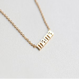 MAMA Letter Pendant Necklace Gentle Accessories Titanium Steel Plated 18K Gold Glamour Collarbone Chain Female Jewelry