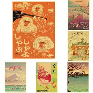 Buy 3 Get 4 Visit Japan Tokyo Travel Posters Art Paintings Vintage Wall Pictures Poster for Living Room Frame Wall Art C0929
