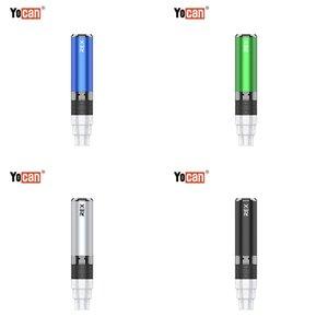 Yocan Rex Portable Enail Vaporizer Kit Built-in 1400mAh Battery VV Water Pipe Compatibility Vape Device Quartz Tri Coils QTC Technology 100% Original