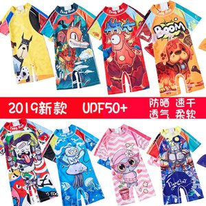 Fashion Boys girls small middle and large swimming trunks Korean children's Swimsuit baby sunscreen quick drying one