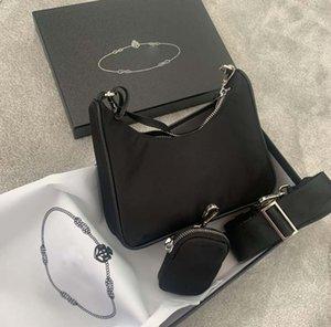 2021 Messenger Bag de las señoras Un hombro Hombre de alta calidad Nylon Handbag Best-Selling Hobo Wallet (con caja y bolsa de polvo)