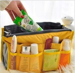 200pcs lot Women Multifunction Organizer Travel Insert Handbag Organiser Storage Make Up Cosmetics Bag Travel Bag