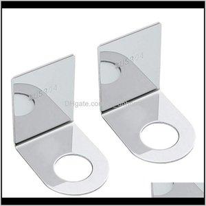 Storage Organization Shampoo Holder Hook Stainless Steel Adhesive Wall Mounted Bottles With Pump Dispenser For Shower Kitchen Bathroom Vutgg