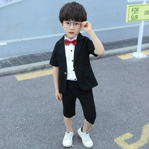 Boys Performance Birthday Party Clothes Formal Blazer Kids Suits Fortnight Clothing Summer Children Short Sleeve Suit