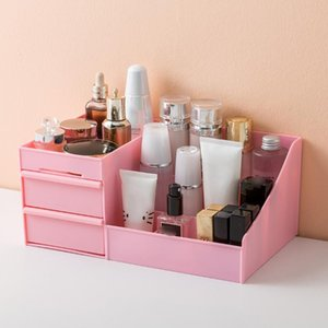 Large Capacity Cosmetic Storage Box Drawer Dressing Table Skin Care Rack House Desktop Sundries Organizer Makeup Boxes & Bins